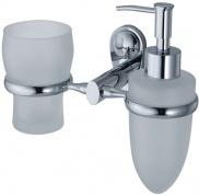 Подробнее о Стакан и дозатор для мыла Wasserkraft Main K-9200 K-9289 подвесные хром/стекло матовое