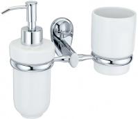 Подробнее о Стакан и дозатор для мыла Wasserkraft Main K-9200 K-9289C подвесные хром/керамика белая