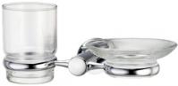 Подробнее о Стакан и мыльница Wasserkraft Donau K-9400 K-9426 подвесные хром/стекло прозрачное