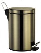 Подробнее о Ведро для мусора Wasserkraft Exter K-645 с педалью 5 литров светлая бронза