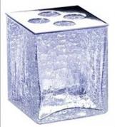 Подробнее о Стакан для зубных щеток Windisch Box Craquele 83128CR настольный стекло `кракле` / хром