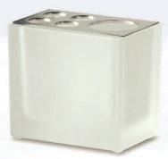 Подробнее о Стакан Windisch Box Lineal Crystal Matt 83318MCR настольный хром /стекло матовое белое
