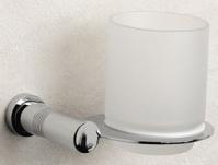 Подробнее о Стакан Windisch Cylinder Ribbed 85356CR настенный хром /стекло матовое