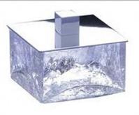 Подробнее о Контейнер малый Windisch Box Craquele  88127CR настольный стекло `кракле` / хром