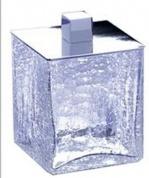 Подробнее о Контейнер средний Windisch Box Craquele 88128CR настольный стекло `кракле` / хром