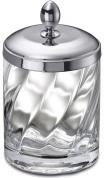 Подробнее о Контейнер для ватных палочек Windisch Spiral  88801CR настольный стекло прозрачное витое / хром