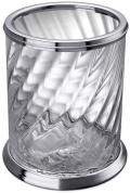 Подробнее о Ведро мусорное Windisch Spiral 89801CR хром / стекло витое прозрачное