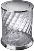 Подробнее о Ведро мусорное Windisch Spiral 89805CR хром / стекло витое прозрачное