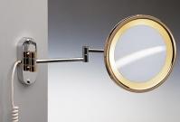 Подробнее о Зеркало косметическое Windisch 99150CR с подсветкой настенное (2X) хром