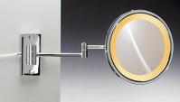 Подробнее о Зеркало косметическое Windisch 99157/2CR с подсветкой (желтый свет) (2X) хром