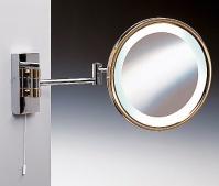 Подробнее о Зеркало косметическое Windisch 99185CR с подсветкой (белый свет) (2XD) хром