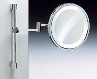 Подробнее о Зеркало косметическое Windisch 99189CR с флуоресцентной подсветкой на штанге (2X) хром