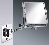 Подробнее о Зеркало косметическое Windisch 99345CR настенное (3X) 175 х 175 мм хром