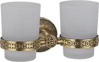 Подробнее о Стакан Zorg Antic AZR 04 BR настенный двойной бронза/стекло