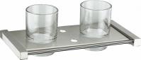 Подробнее о Стакан Zorg Inox Labe ZR 1135-B подвесной двойной нержавеющая сталь/стекло