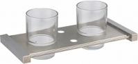 Подробнее о Стакан Zorg Inox Odra ZR 1235-B настенный двойной нержавеющая сталь/стекло